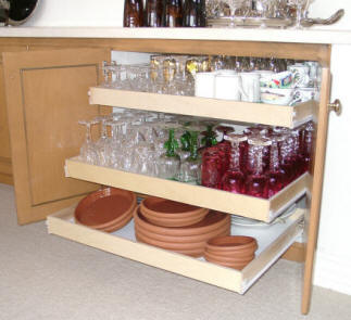 Kitchen pull out shelving to make your life easier