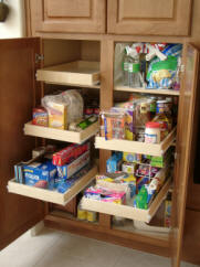 Pantry shelving from Kitchen Pull out shelves